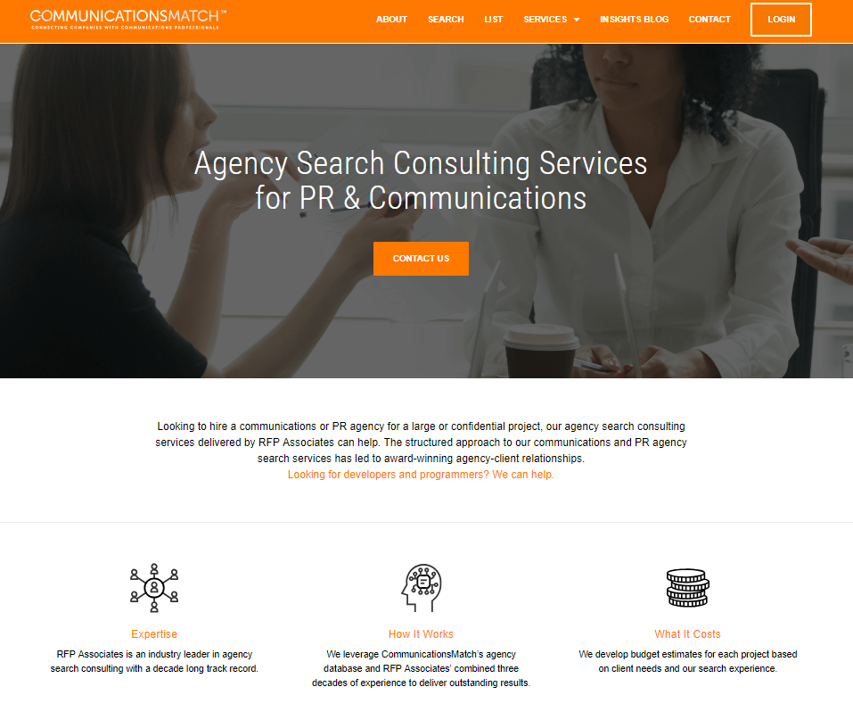 PR Agency Search Consulting Service