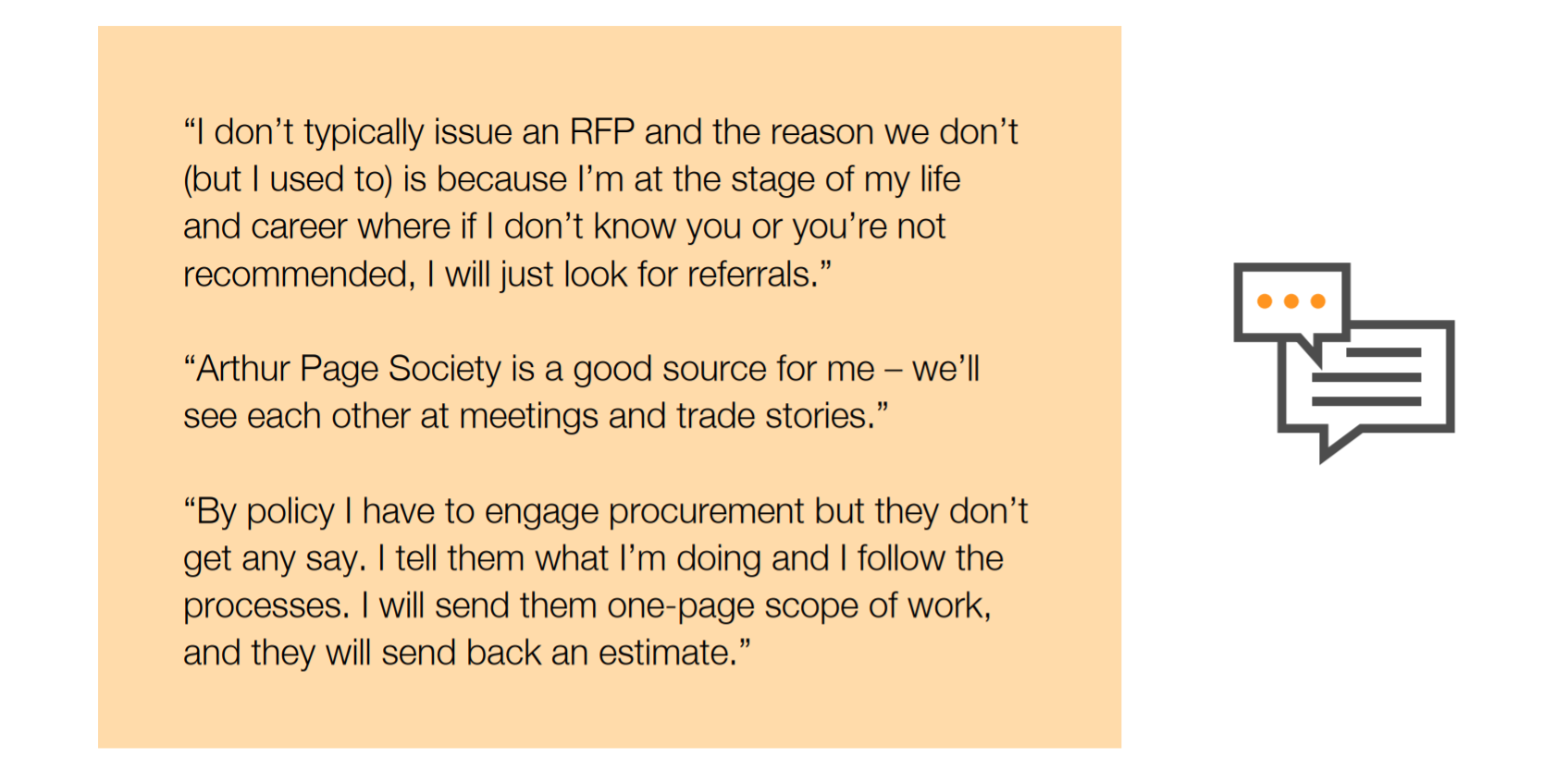 CCOs share feedback on RFPs