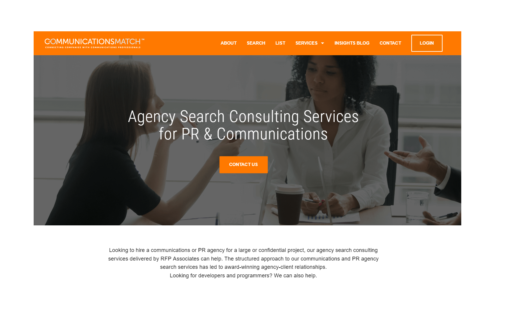 Agency search consulting service