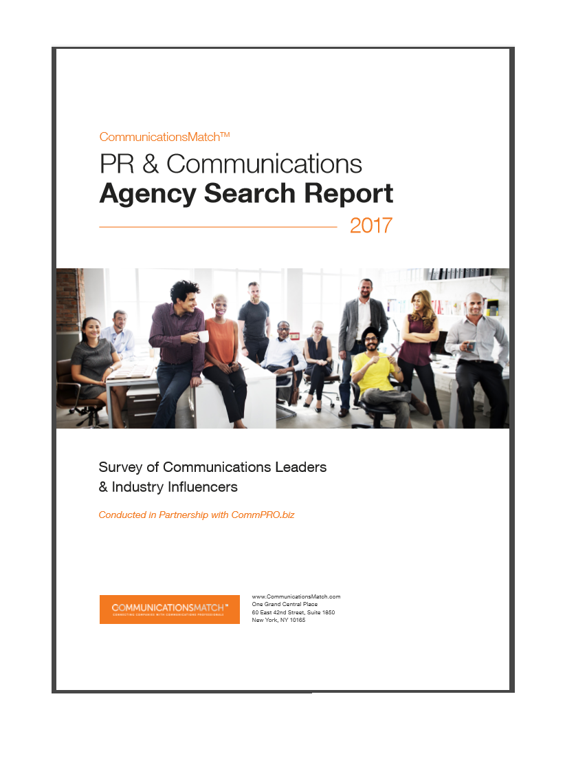 Remarkable Pr And Communications Agency Search Report 2017 Communicationsmatch Largest Home Design Picture Inspirations Pitcheantrous