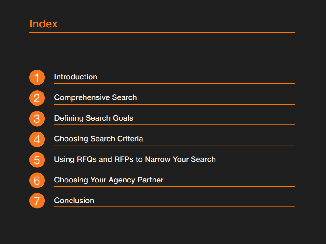 PR Search Guide Sections