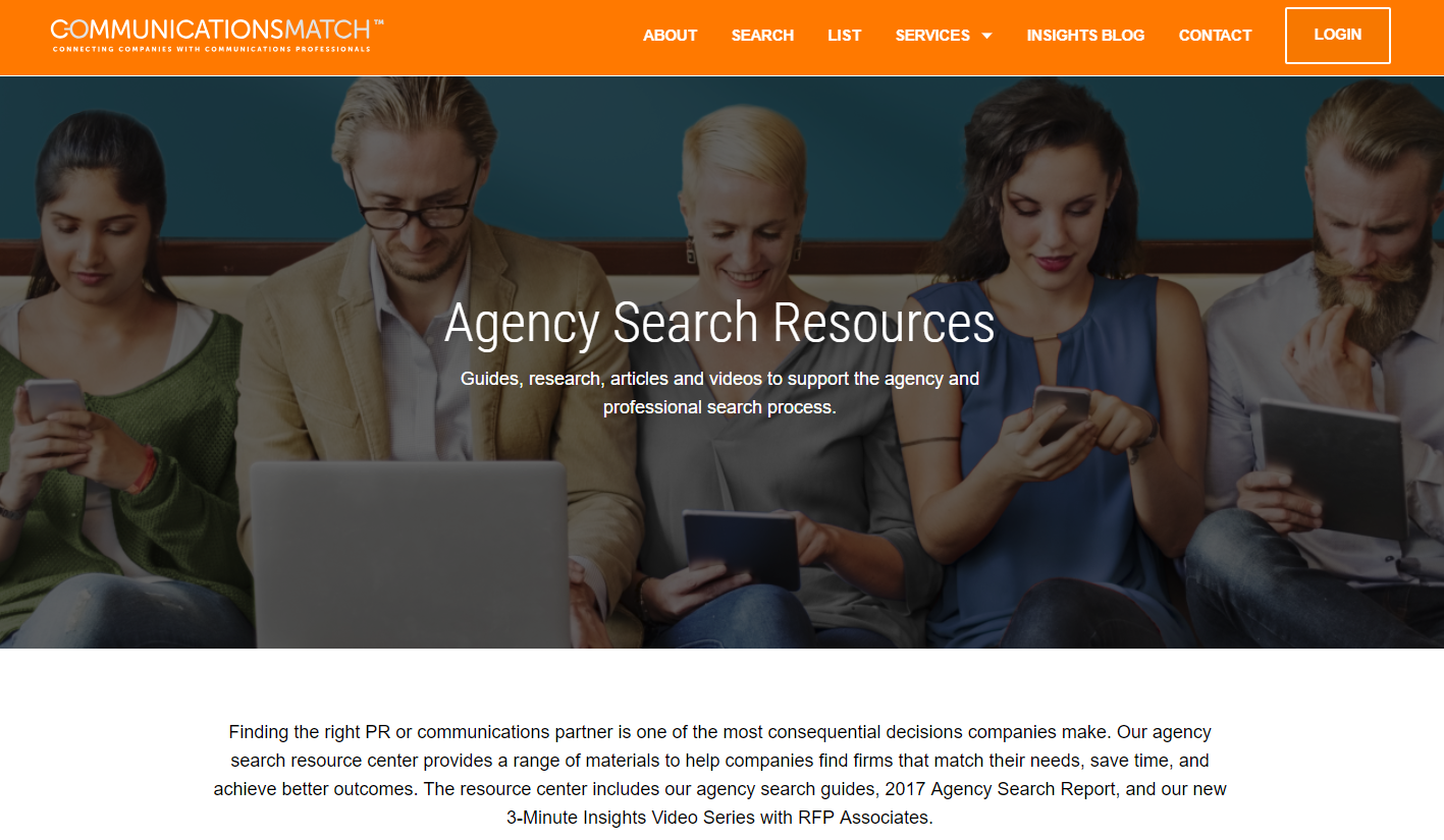PR Agency Search Resources
