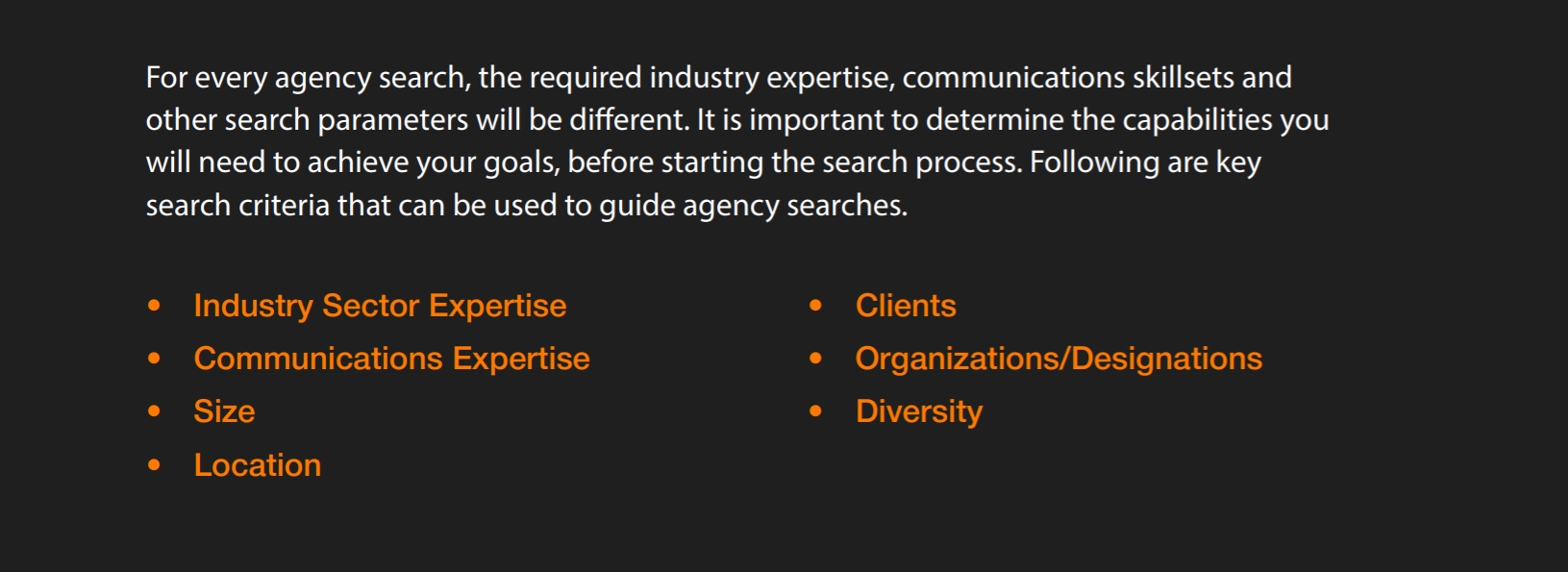 For Every Agency Search